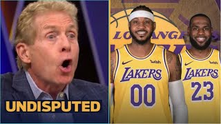 UNDISPUTED | Skip Bayless CONGRATS LeBron and Lakers after signing Carmelo Anthony
