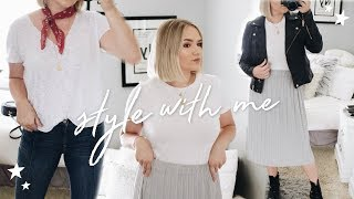 PUT TOGETHER OUTFITS WITH ME! HOW TO STYLE CUTE OUTFITS (3 LOOKS)
