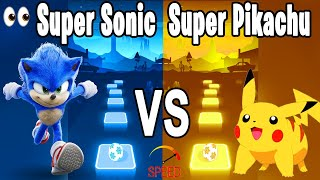 Sonic the Hedgehog Song VS Pika Pikachu tiktok Song - Tiles Hop Edm RUSH!