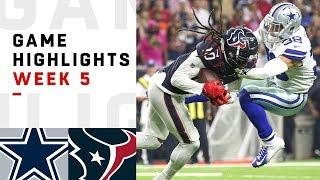 Cowboys vs. Texans Week 5 Highlights | NFL 2018