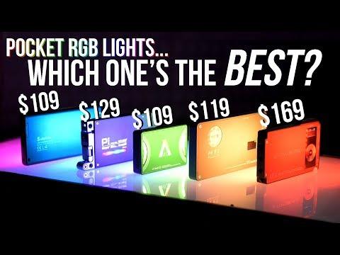 RGB Pocket Video Light Showdown - Aputure MC, Boling P1, Falconeyes F7, Pilotfly RX1, and Sutefoto
