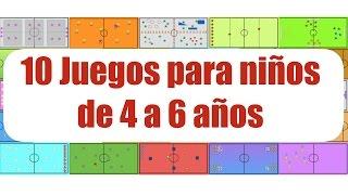 10 JUEGOS PARA NIÑOS DE 4 a 6 AÑOS | Juegos Educación Física