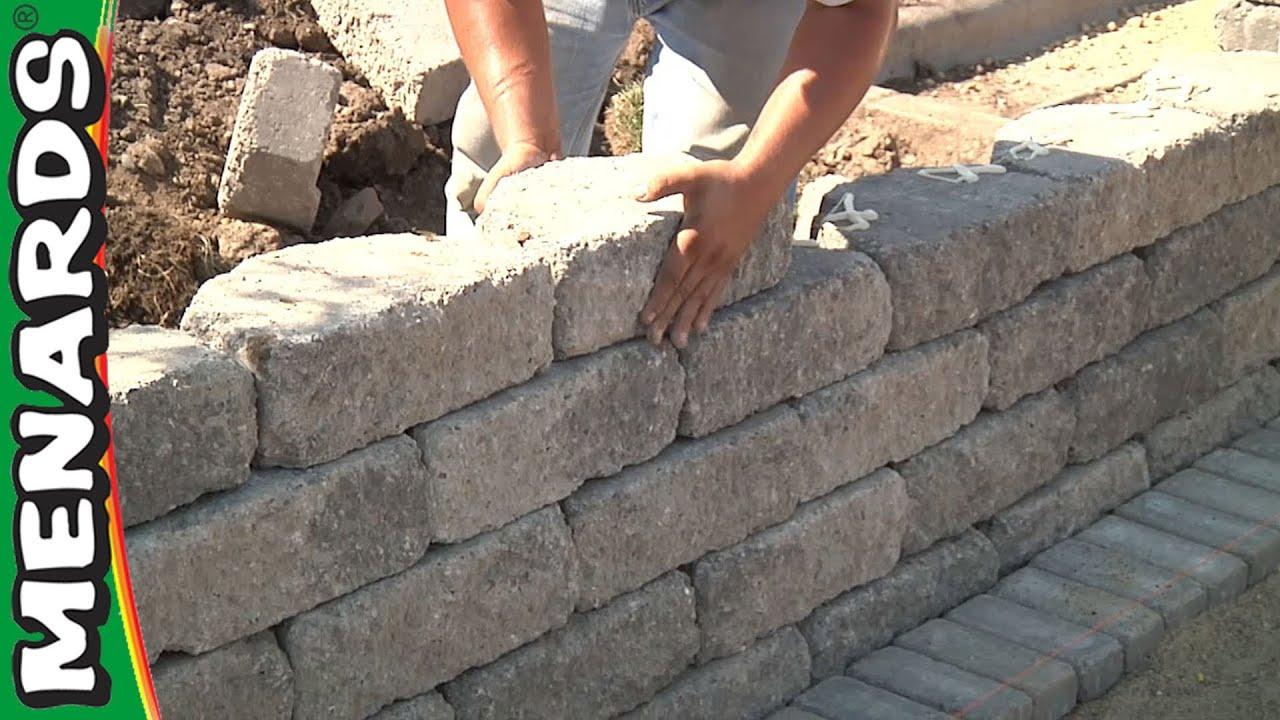 Retaining Wall - How To Build - Menards - YouTube