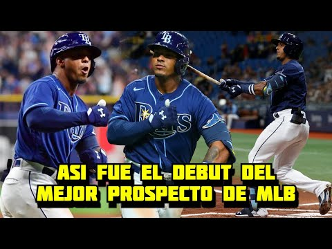 Wander Franco y Todo sobre su Debut Histórico en MLB donde Pegó HR a pítcher Venezolano