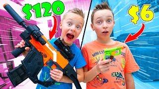 $120 Nerf Blaster vs $6 Nerf Blaster Challenge