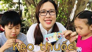 Stin Dâu Và Chị Cọp Chơi Thử Thách Gan Dạ (^_^) Bí Mật Kẹo Thuốc
