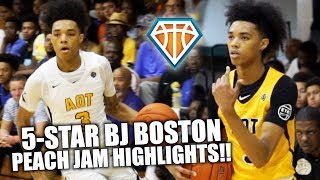 5-STAR BJ BOSTON JOINS BRONNY, ZAIRE & SIERRA CANYON??!   6'7 Wing's Peach Jam Highlights