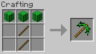 Minecraft but you can craft pickaxes out of any block...