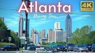 Atlanta 4k Drive Downtown & Midtown Tour Georgia