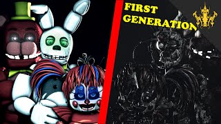 ⭐️[SFM FNAF] First Generation Redbear, White Rabbit, Baby - Characters Timeline | Bertbert⭐️