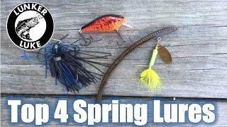 Top 4 Spring Pond Lures- Bass Fishing- Lunker Luke HD