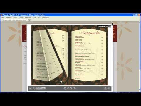 Online-Speisekarte mit Blätterfunktion - Flippingbook Beispiel HD