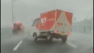 Typhoon Jebi hits Osaka, Japan - September 4, 2018