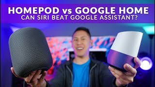Siri on Apple Homepod vs Google Assistant on Google Home + Real Quick Hands-On Review!