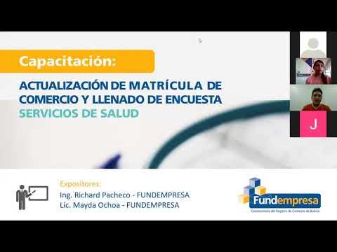 Actualización de Matrícula de Comercio - SERVICIOS DE SALUD
