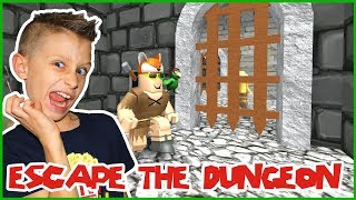 ESCAPING THE DUNGEON in ROBLOX!!!
