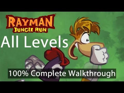 Repeat youtube video Rayman Jungle Run - All Levels 100% Complete Walkthrough w/ Bonus Secret Levels