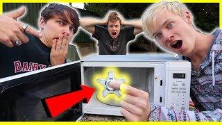 FIDGET SPINNER VS. MICROWAVE | Will It Explode Game?!
