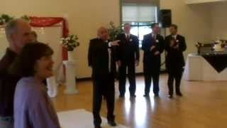 Bruno Mars song Marry You SURPRISE ENTRANCE!! Wedding Ceremony Entrance lip synced by Groom.
