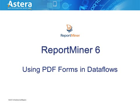Using PDF forms in Dataflows