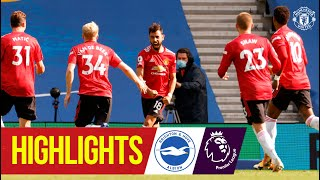 Highlights | Brighton 2-3 Manchester United | Fernandes seals dramatic late win | Premier League