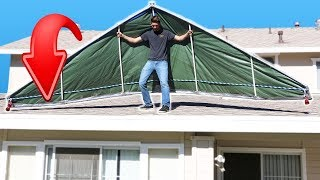 Duct Tape Hang Glider FLYING Challenge!