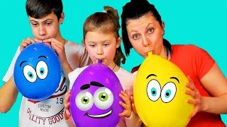 Learn Colors With Balloons for Children   Learning Colors with Dasha Vit and Tim