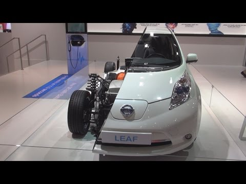 Nissan Leaf 30 kW Half Car (2016) Exterior and Interior in 3D