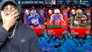 PULLING 110+ OVR ELITES IN ALL-MADDEN PACK OPENING! Madden Mobile 18 Gameplay Ep. 36