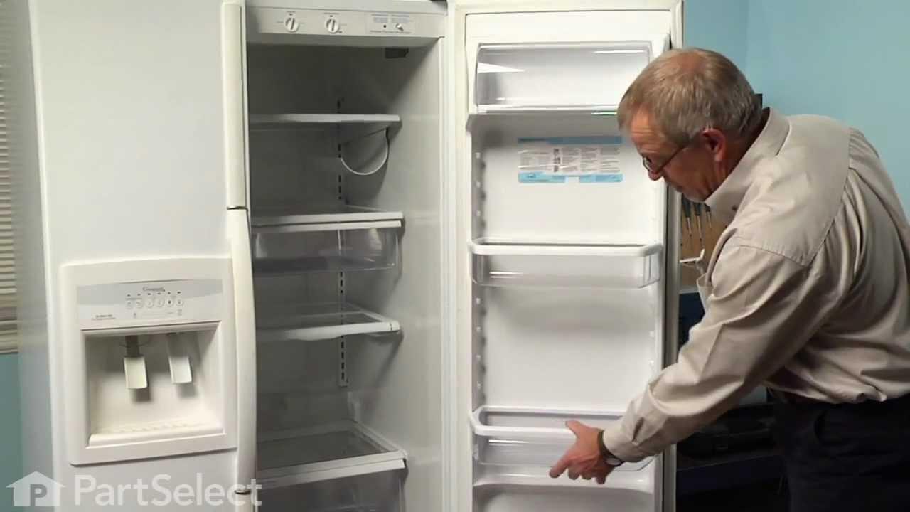 Refrigerator Repair Replacing The Cantilever Bin