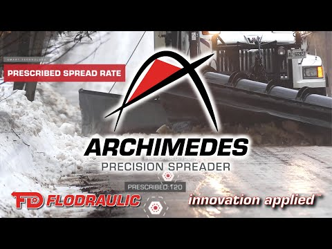 Archimedes Precision Spreader, a next generation precision snow plow and salter