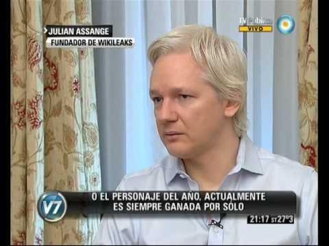 Visión 7:  exclusive -- Julian Assange