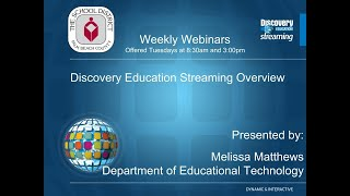 Discovery Education Welcome Back Webinar FY19 PM