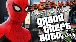 SPIDER-MAN FAR FROM HOME MOD (GTA 5 PC Mods Gameplay)
