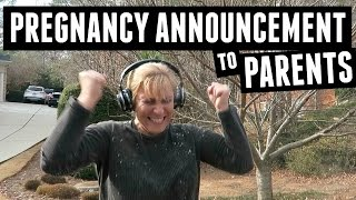 Surprise Pregnancy Announcement to Parents!