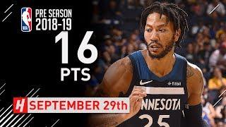 Derrick Rose Full Highlights vs Warriors 2018.09.29 - 16 Points!