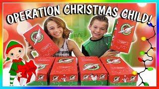 WHAT'S INSIDE? | OPERATION CHRISTMAS CHILD | We Are The Davises