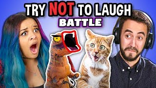 Try To Watch This Without Laughing or Grinning: Contagious Laughter Battle