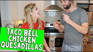 I TRIED TO MAKE TACO BELL CHICKEN QUESADILLAS // Grace Helbig