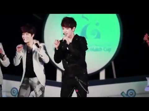 120531 EXO-K Baekhyun Funny Dance Cute [Fancam] @Cultwo Show Open Concert