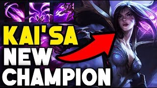 """""""KAI'SA"""" NEW CHAMPION REVEALED!! ALL ABILITIES REVEALED! BRAND NEW MARKSMAN (League of Legends)"""