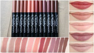 NYX Lip Lingerie Push Up Long Lasting Lipsticks || Lip Swatches, Review & Wear Test