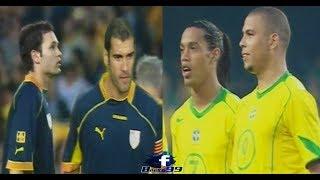 When Brazil Ronaldo & Ronadinho met Catalonia Guardiola & Iniesta!