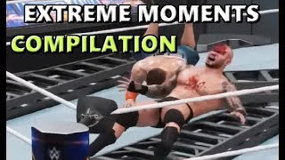 WWE 2K18 MOST EXTREME MOMENTS COMPILATION (vol 1 & 2)