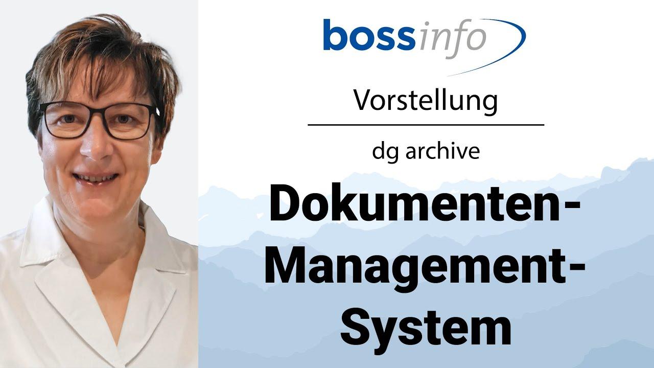 dg archive Dokumenten-Management-System (DMS) zur digitalen Archivierung
