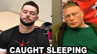 10 WWE Wrestlers Caught Sleeping - Brock Lesnar, Finn Balor & more