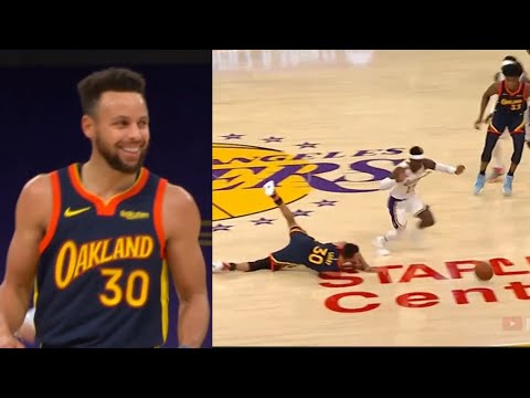 Steph Curry just tripped himself