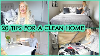 20 TIPS FOR A CLEAN HOME | HABITS FOR KEEPING A CLEAN HOUSE