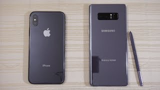iPhone X vs Galaxy Note 8 - Speed Test! Which one is BEAST?! (4K)