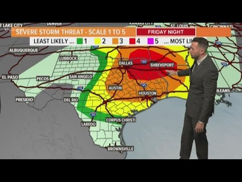 Severe weather risk in Houston: Chance for tornadoes shifts to the northeast